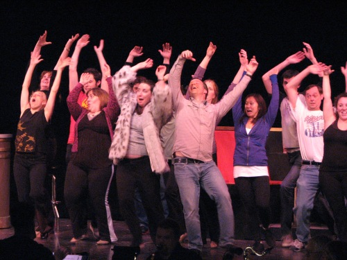 Crazy cast of Promises, Promises. (rehearsal)