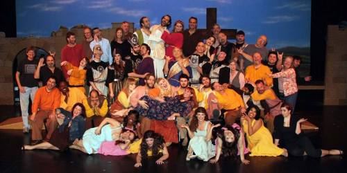 Cast and Crew of SUPERSTAR being goofy!  Photo by Edmond Kwong