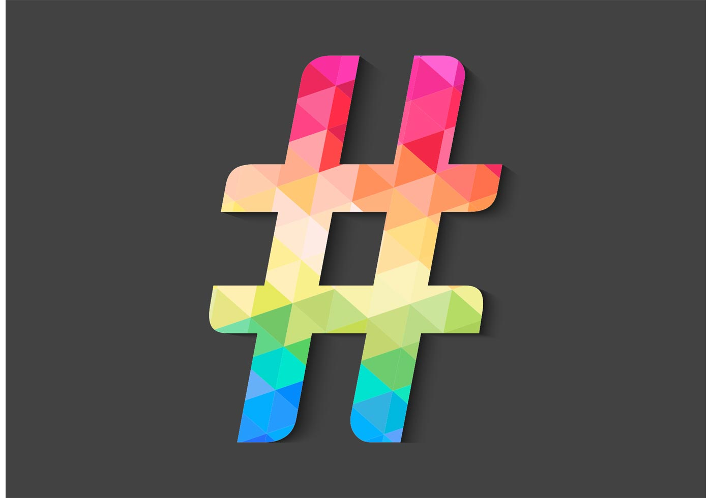 free-geometric-hashtag-vector-icon